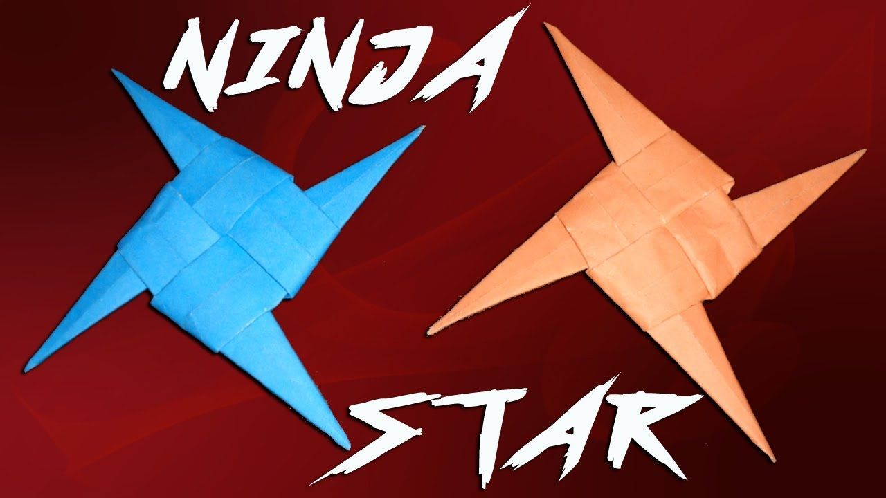 How To Make A Four Bladed Paper Ninja Star Shuriken New And Easy Method Https Youtu Be Fm Mxuiwv Y Paper Ninja Stars Ninja Star Paper Crafts Diy
