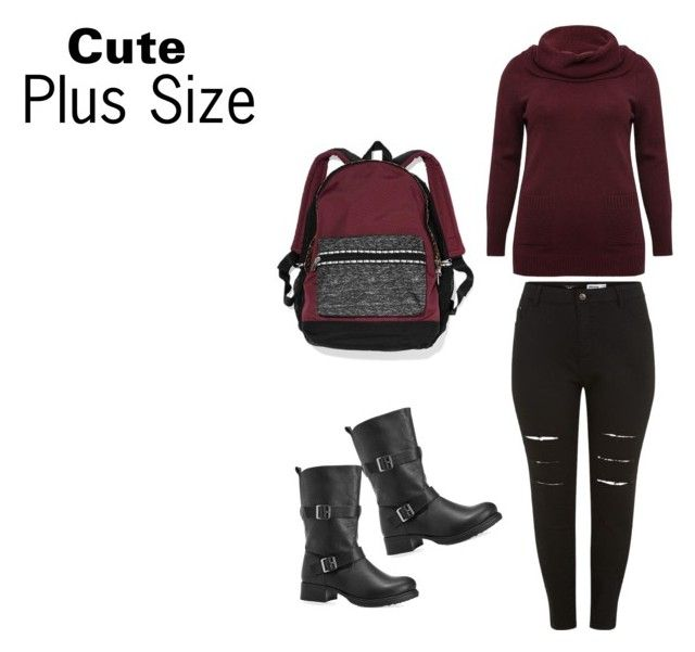 """""""Plus Size"""" by marta-g2002-mads ❤ liked on Polyvore featuring New Look, M&Co, Avenue and Victoria's Secret"""