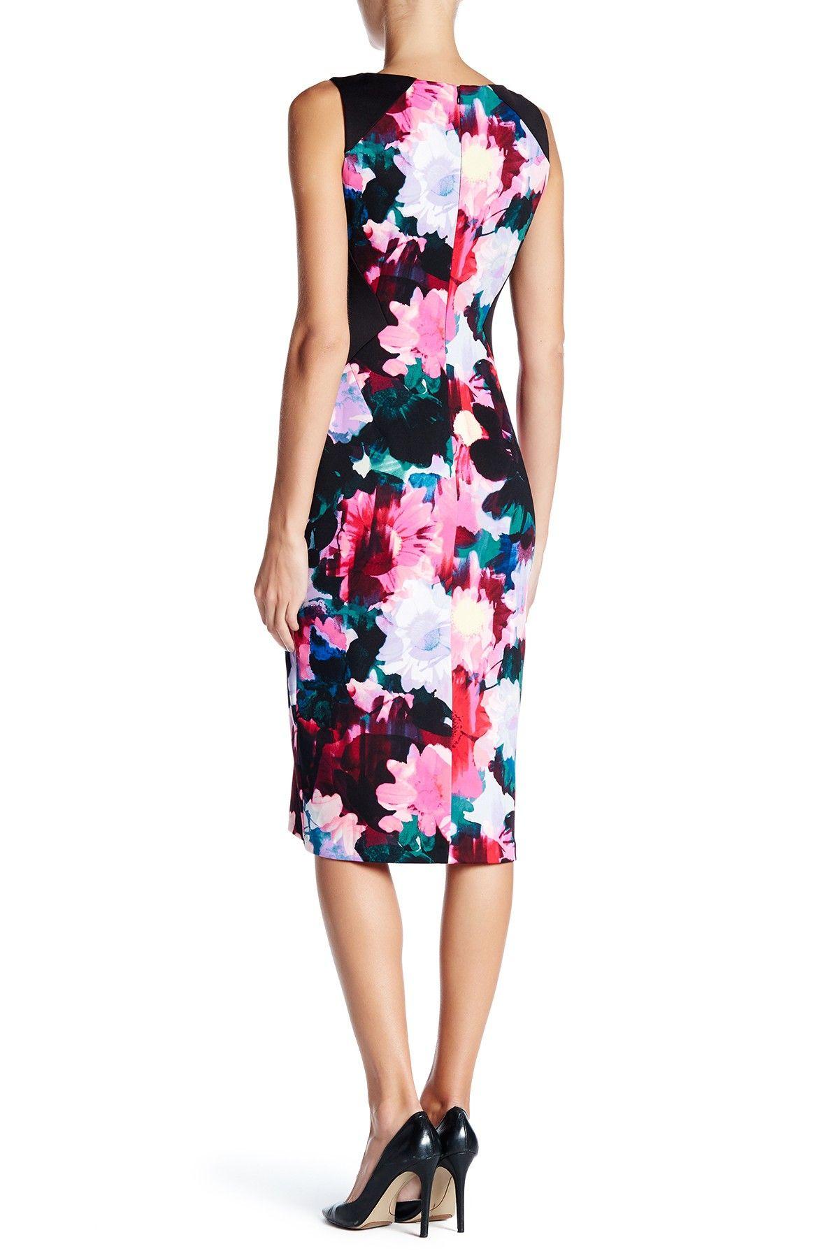 Floral Scuba Midi Dress Nony Pinterest Scubas Midi Dresses