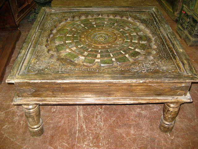 Astonishing Ethnic Coffee Table Rustic Antique Indian Chest Hand Carved Inzonedesignstudio Interior Chair Design Inzonedesignstudiocom