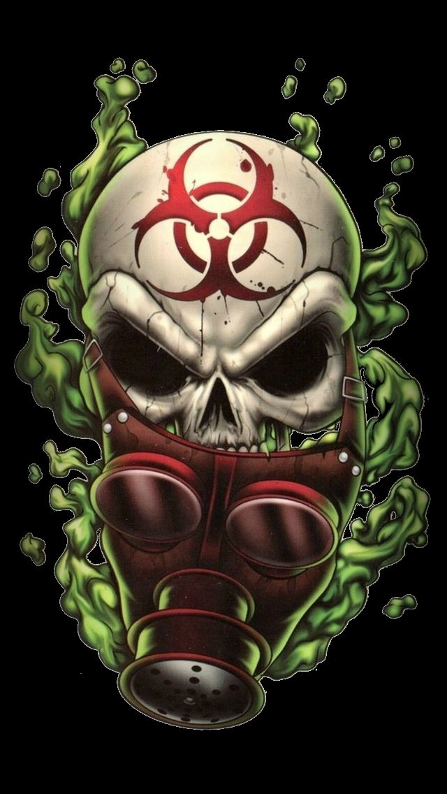 Biohazard iPhone wallpapers mobile9 Skull artwork