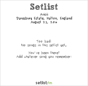 Avicii Setlist Creamfields 2014 2014