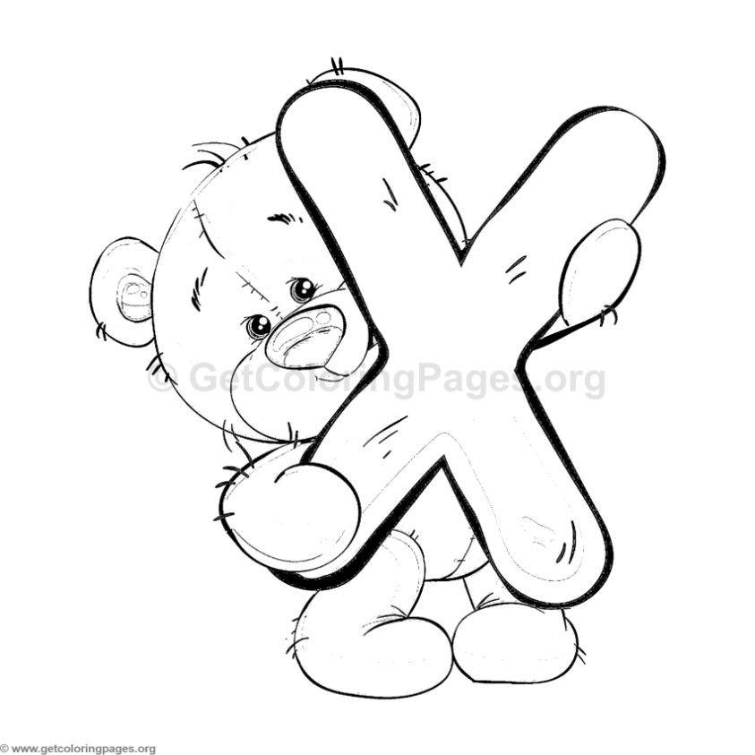 Alfabeto Ursinho Para Imprimir Paginas Para Colorir Desenho De