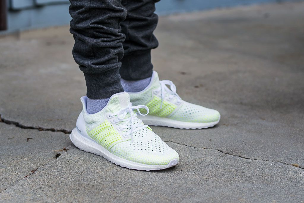 Adidas Ultraboost Clima Solar Yellow On Feet Sneaker Review