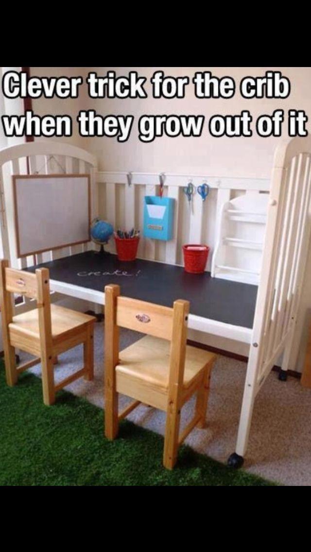Crib into a desk