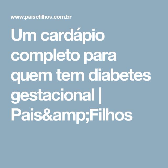 Dieta para gestante diabetes gestacional