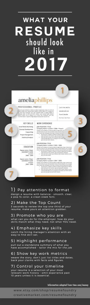Modern Resume Template for Word, 1-3 Page Resume + Cover Letter + - 3 resume formats
