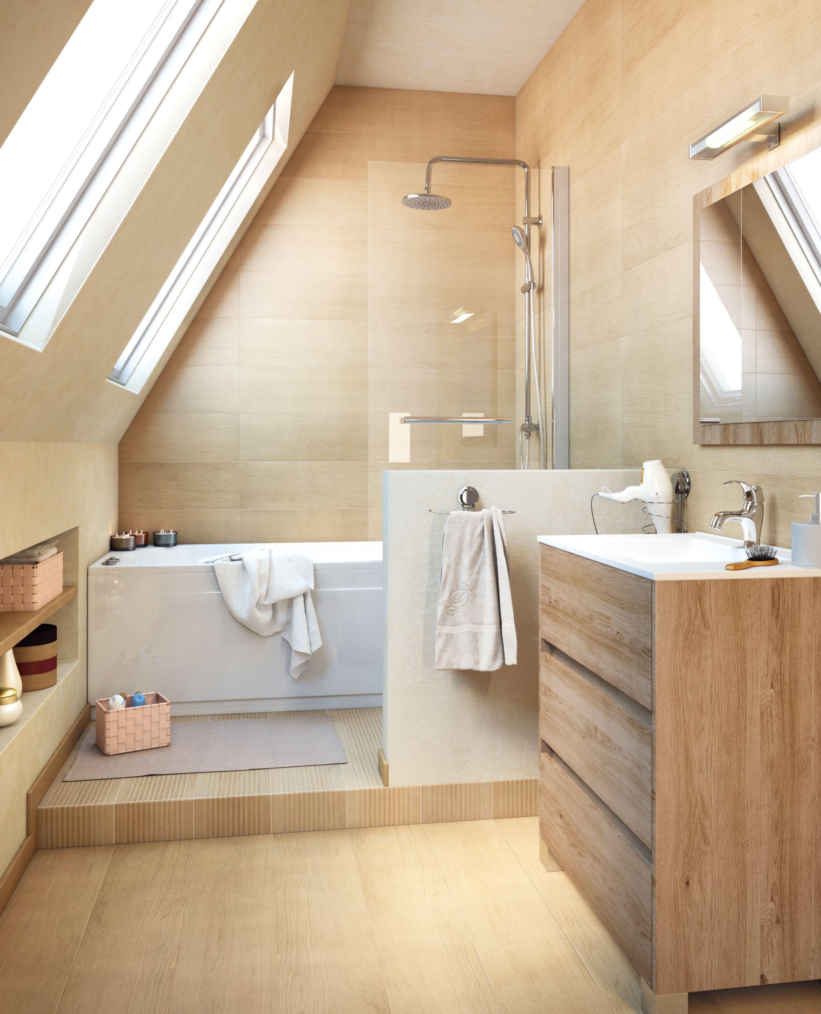 un baño en la buhardilla - leroy merlin | baño | pinterest | baño