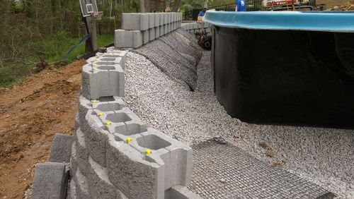 Image Result For Above Ground Fiberglass Pools On A Slope