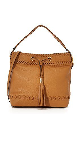 MILLY Astor Whipstitch Bucket Bag Caramel One Size * ** AMAZON BEST BUY **