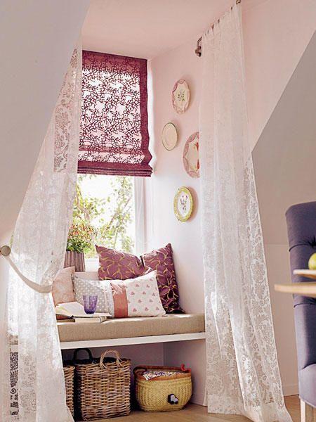 16 praktische Wohnideen für Ihre Dachschräge Raffrollo - dachschrge vorhang