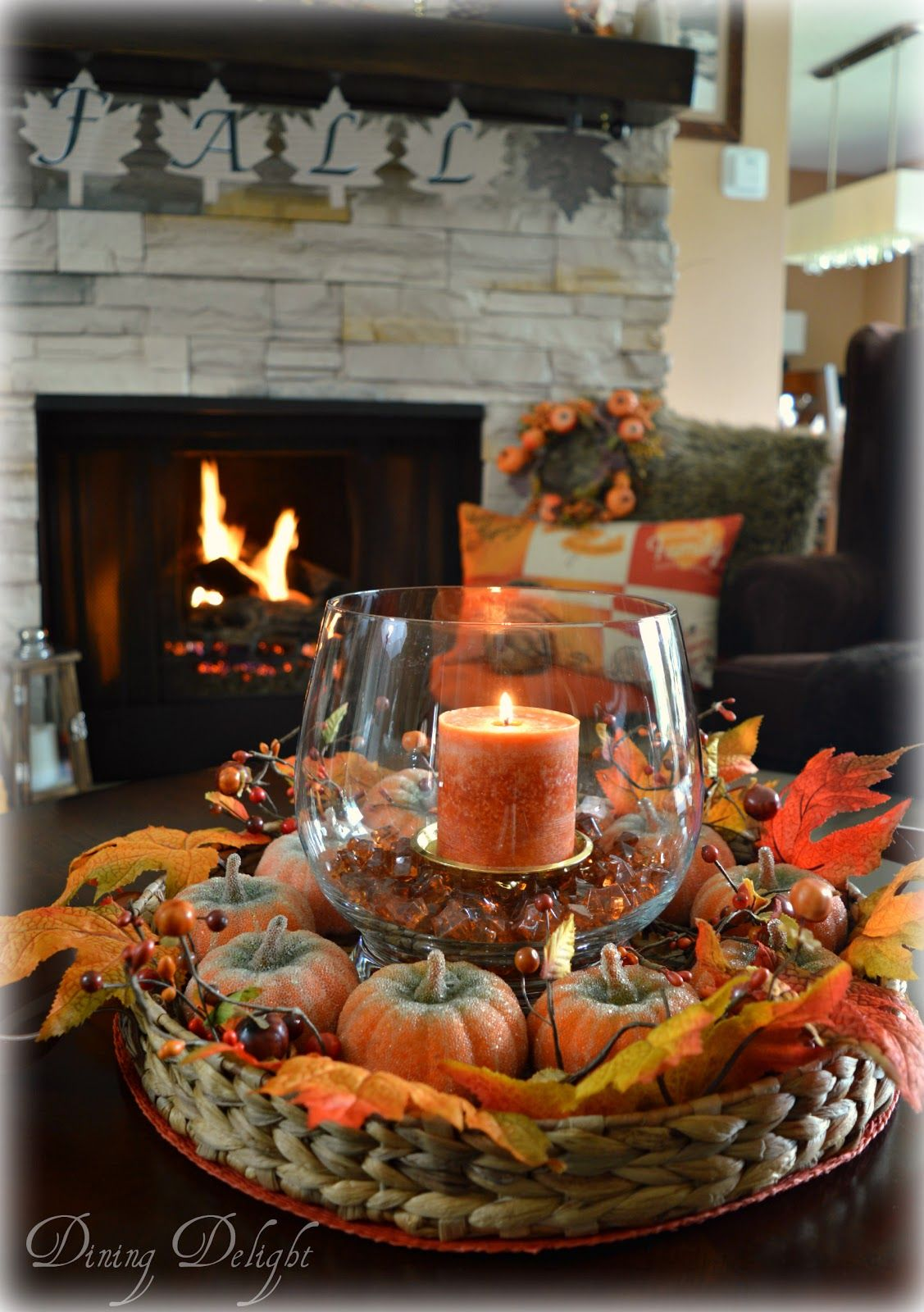 Do you struggle with what to put on your coffee table for a seasonal centerpiece? In my opinion, it can't be too large, needs to be easil... #thanksgivingdecorations