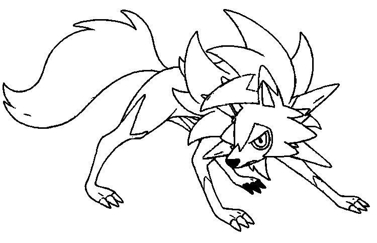 Image Result For Dusk Form Lycanroc Coloring Pages Pokemon Coloring Pokemon Coloring Pages Pokemon