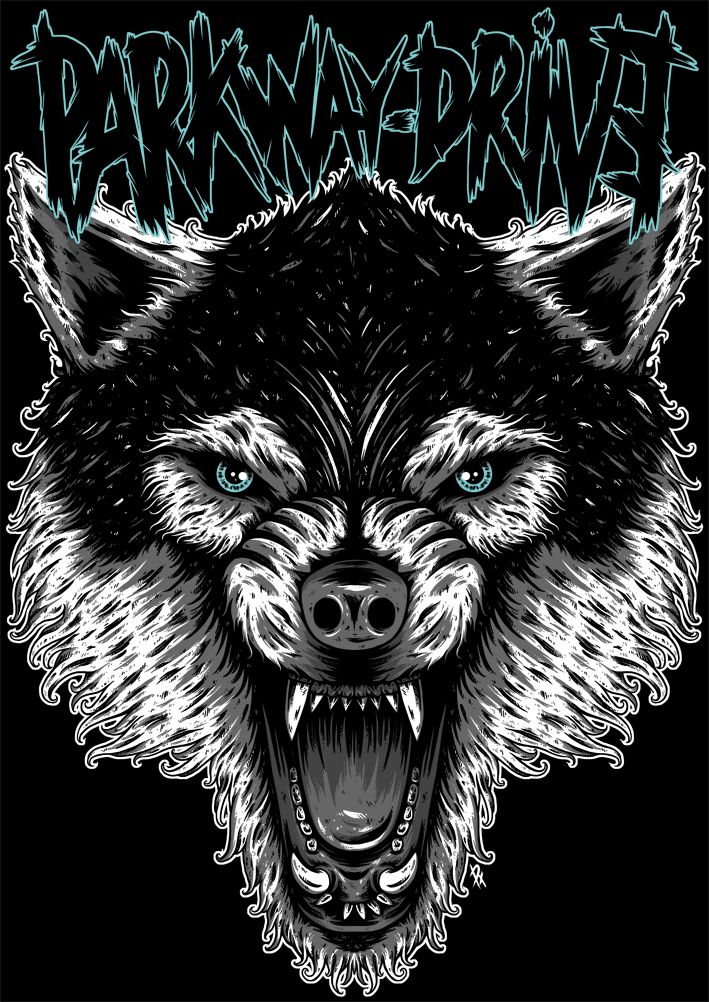 Parkway Drive Wolf on Behance Band wallpapers, Metal