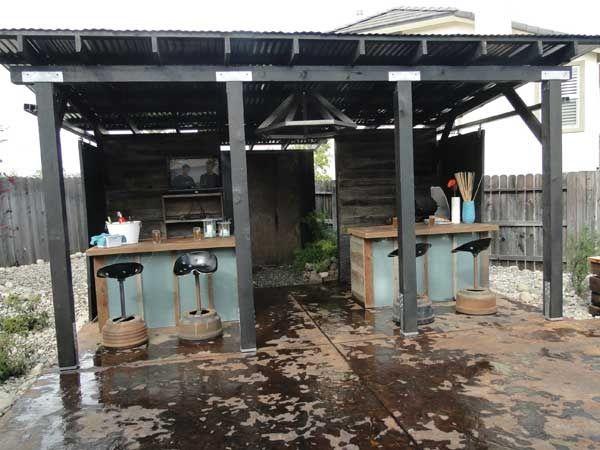 Cool Backyard Bars | cool idea for an outdoor bar at home ...