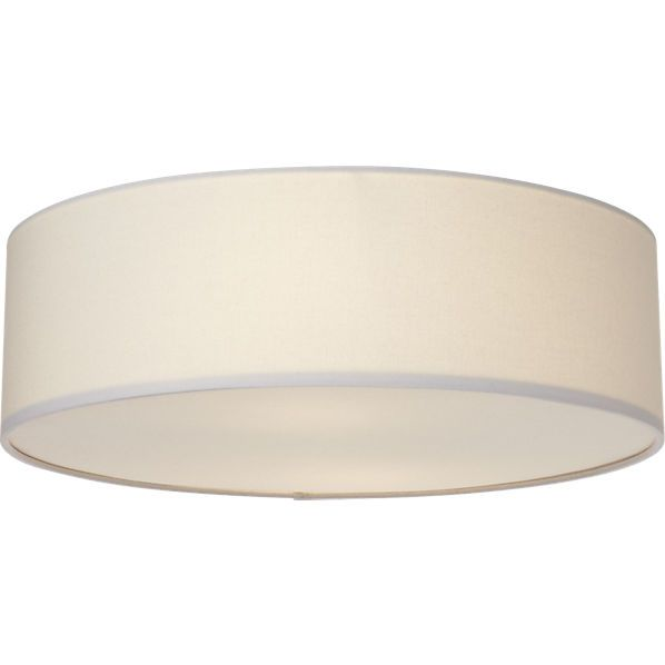 Great Basic Hall And Open Area Ceiling Light Only 70 Drum Flush Mount Lamp Cb2