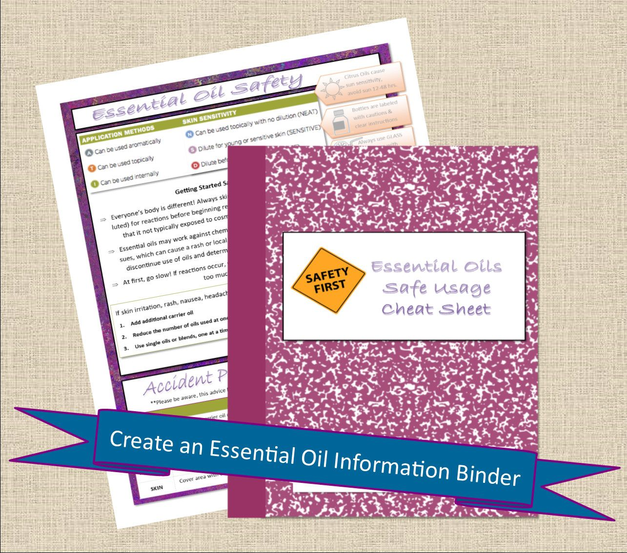 Essential Oil Safety Cheat Sheet Printable Healthy Journal