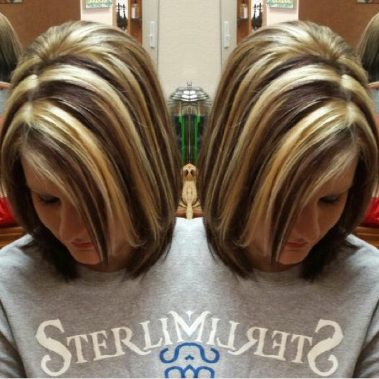 Chunky Highlights Blonde And Brown Corte De Cabello Pinterest