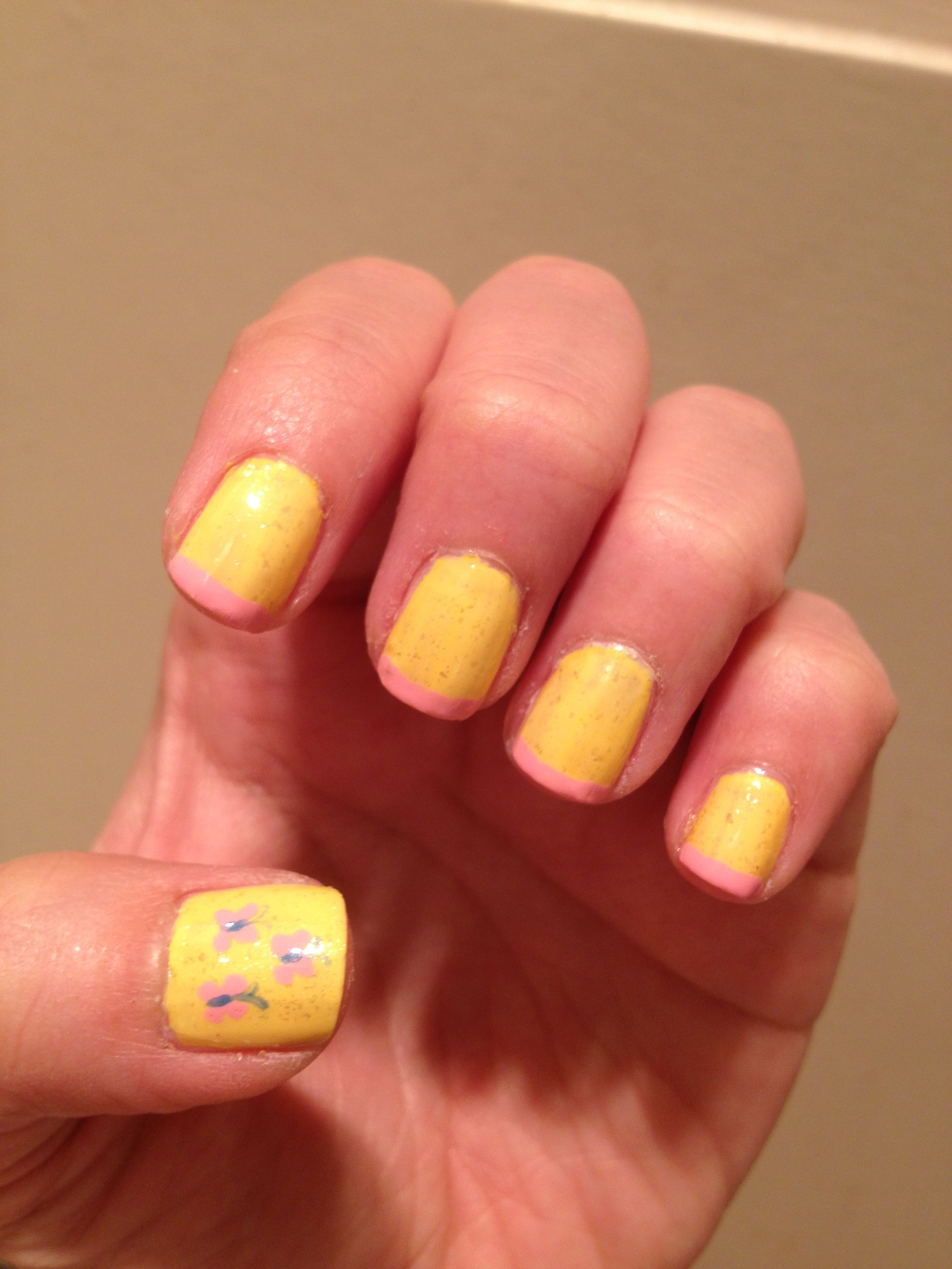 Mlp flutterfly yellow, opi pink Friday, Essie As Gold As it gets ...
