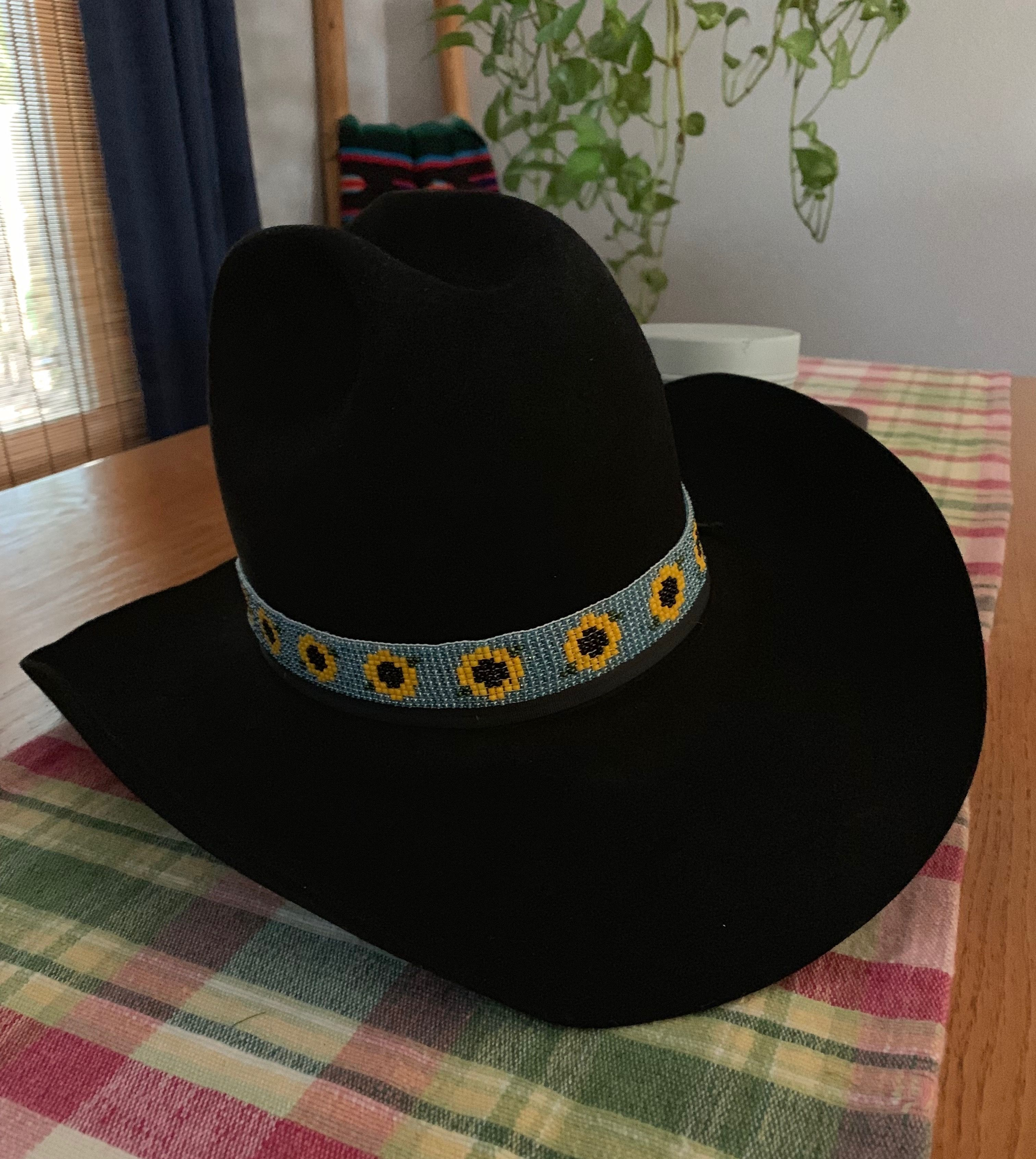 Sunflower Beaded Hat Band Beaded Hat Beaded Hat Bands Beaded Hat Band