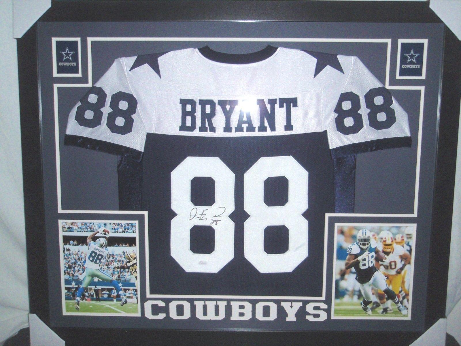 Dez Bryant Autographed Dallas Cowboys Framed Jersey Jsa