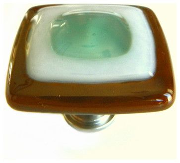 Seafoam Fused Art Glass Cabinet Knobs Or Drawer Pulls.