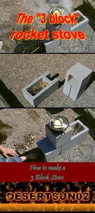 The 3 Block Rocket Stove Simple Rocket Stove And Smoker Stove