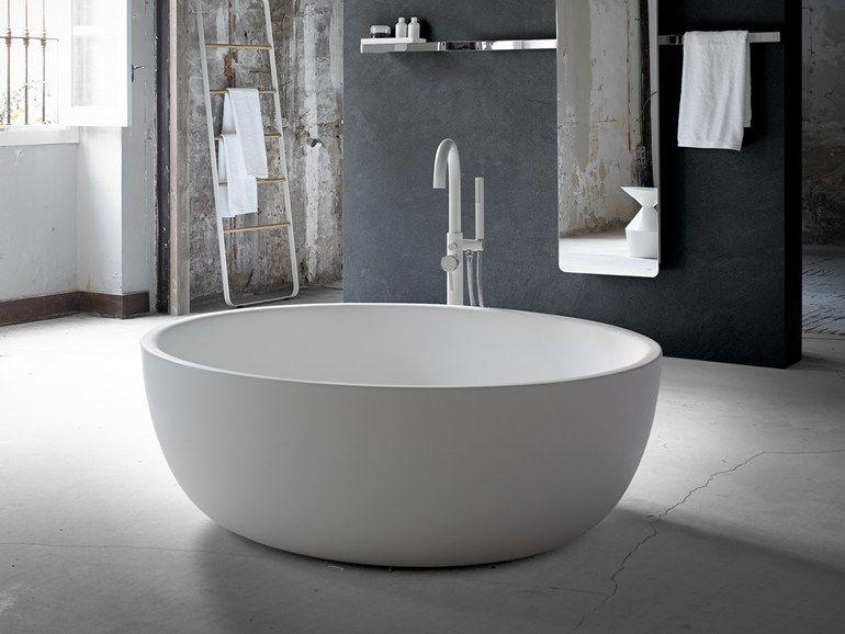 Vasca Da Bagno Ovale Prezzi : Vasca da bagno centro stanza ovale in solid surface moon by