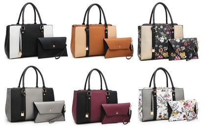 230f460c48d Up To 80% Off on Handbag and Wristlet Set (2-Pc.)   Groupon Goods ...