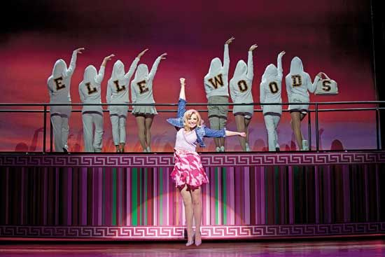 """Song """"Positive"""" from Legally Blonde London and Broadway smash-hit musical"""