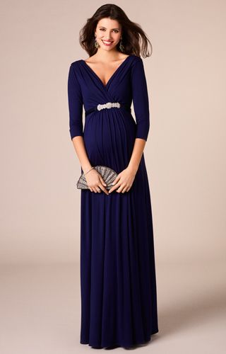 953e3c34cd37 Willow Maternity Gown Long Eclipse Blue - Maternity Wedding Dresses,  Evening Wear and Party Clothes by Tiffany Rose US