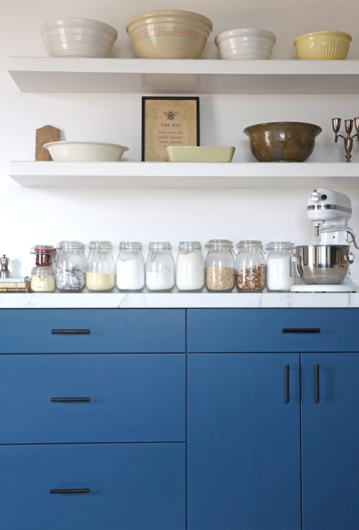 West Slope Drawer Pull | Black kitchens, Open shelving and Modern ...