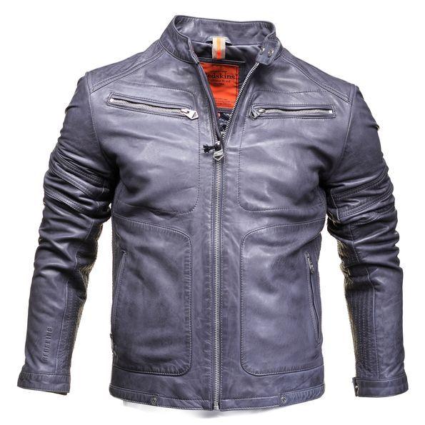 Tangda Blouson Cuir Homme Silm Moto Cool Manteau Jacket