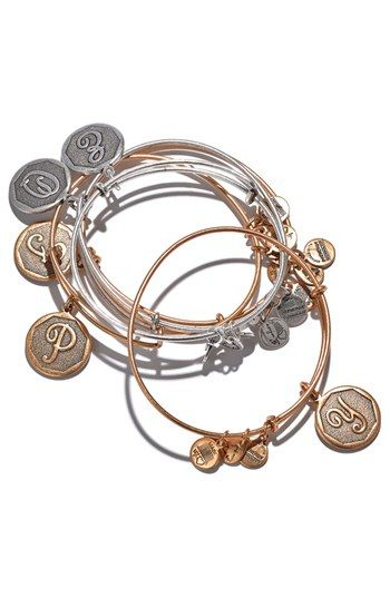 Alex And Ani Initial Adjule Wire Bangle Nordstrom