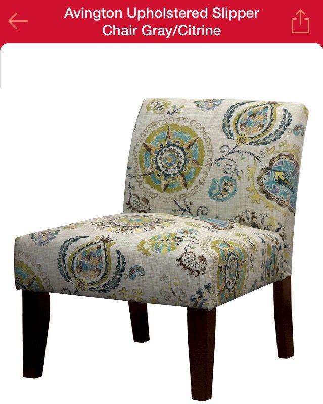 avington slipper chair in graycitrine target pair