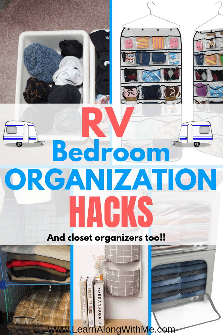 13 Simple Rv Bedroom Organization Ideas So You Ll Actually Be Able To Find Something Organization Bedroom Bedroom Storage Travel Trailer Organization