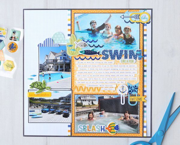Swim Like a Fish - Scrapbook.com