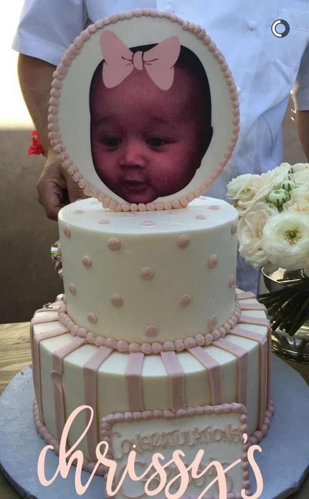chrissy teigen celebrates at baby shower with kim kardashian and her family e online