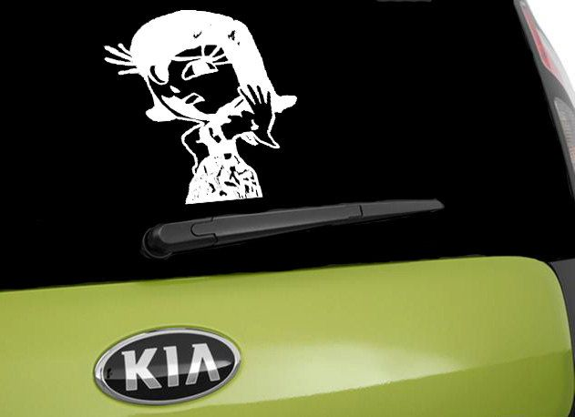 Disgust inspired car decal inside out window car sticker car decal car window