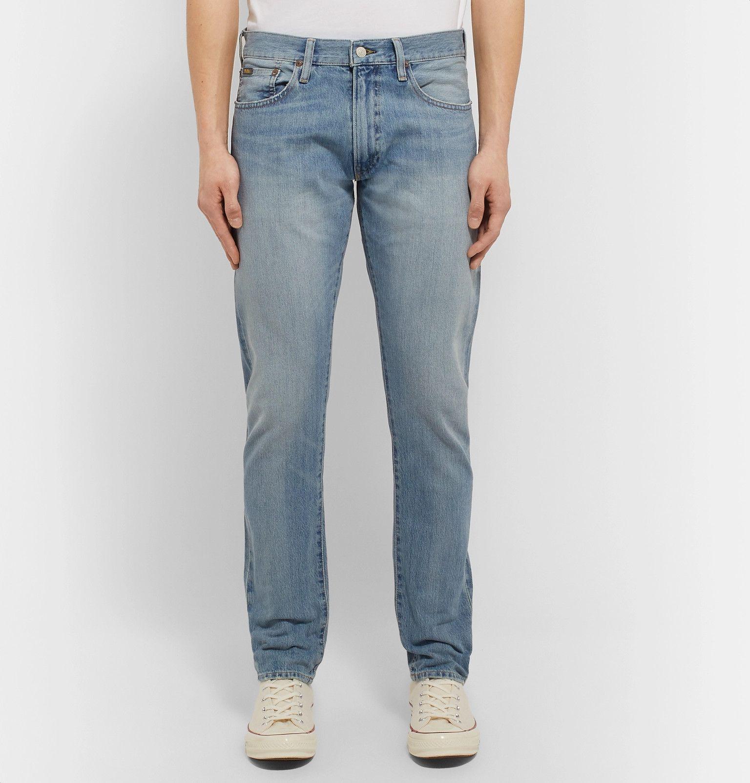 Blue slimfit stretchdenim jeans polo ralph lauren