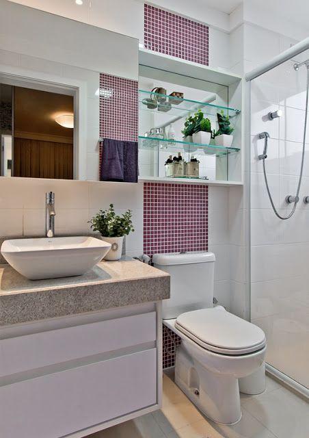 banheiropequenomoderno5  banheiros  Pinterest  Banheiros pequenos moder -> Banheiro Pequeno Oq Fazer