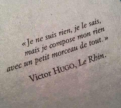 Victor Hugo; Le Rhin Excuse my 12th grade translation