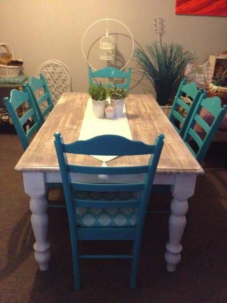 Interesting To Paint The Chairs A Different Color Diy Dining TableTable