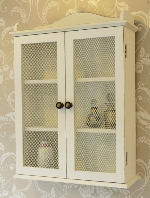 Shabby Chic Wall Cabinets For The Bathroom Shabby Chic Bathroom Bathroom Wall Units Wall Storage Unit