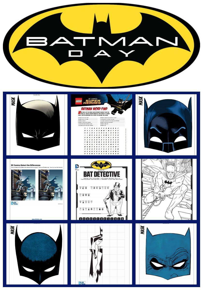 Free Batman Mask and Activity Printables Batman