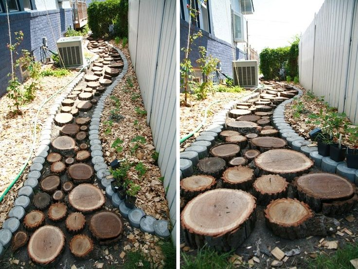 Log rounds wood discs natural play wooden stepping stones