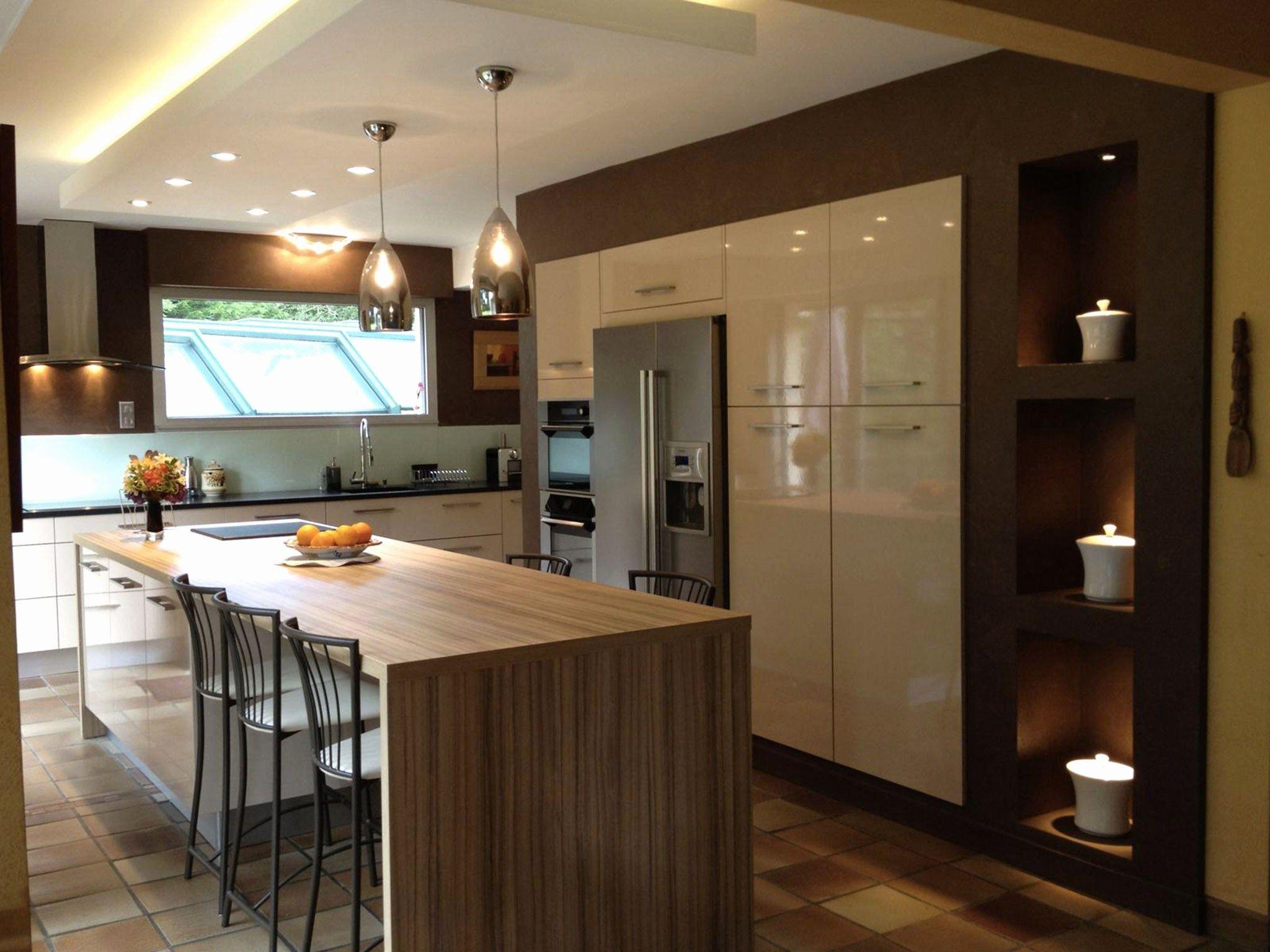 Luxury Cuisine Americaine Avec Ilot Centrale Pour Manger Kitchen Design Cuisine Design Kitchen Colors
