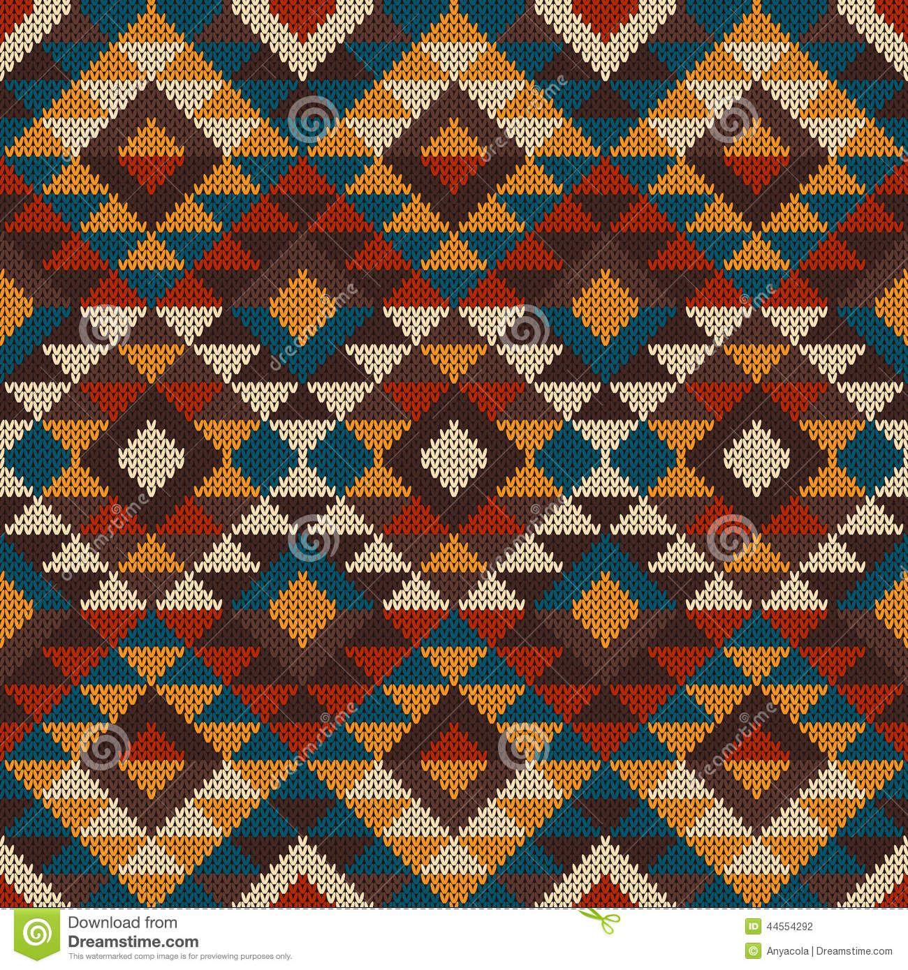 Encantador Aztec Knitting Pattern Elaboración - Manta de Tejer ...