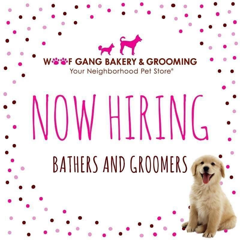 Woof Gang Bakery Aberdeen Is Now Hiring Bathers And Groomers 3 Dog Grooming Shop Grooming Shop Dog Bakery
