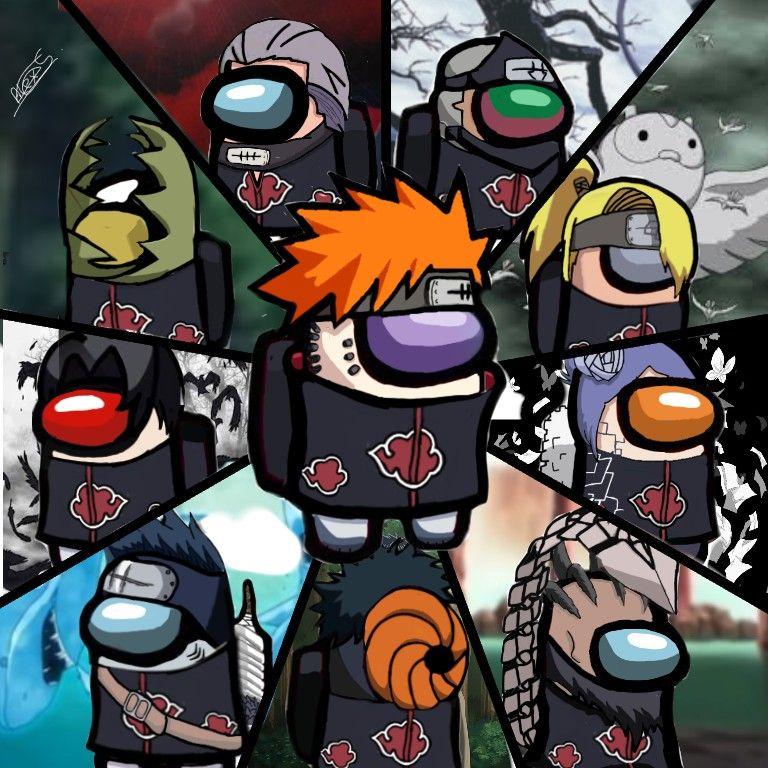 Among Us Akatsuki Naruto Anime Mangekyou Sharingan Imagenes De Naruto Hd